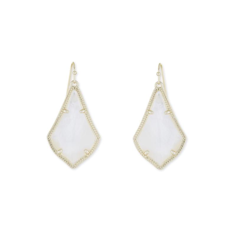 Kendra Scott Alex Earrings in Ivory Pearl