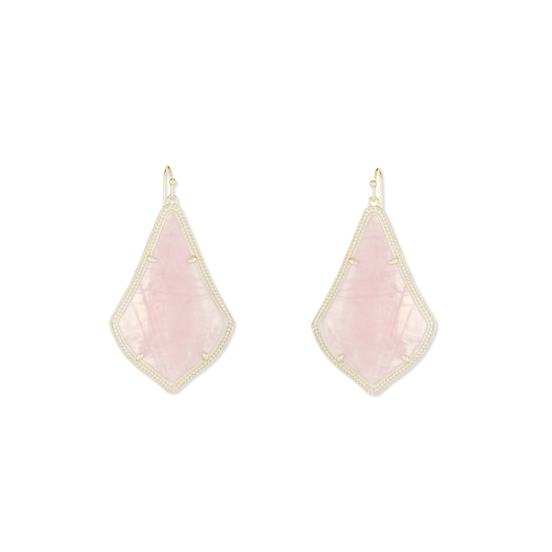 Kendra Scott Alex Earrings in Rose Quartz