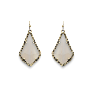 Kendra Scott Alex Earrings in White Banded Agate