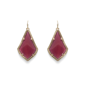 Kendra Scott Alex Earrings in Burgundy Illusion