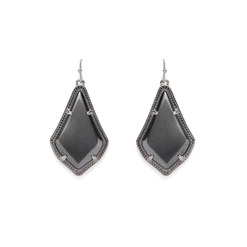 Kendra Scott Alex Earrings in Hematite