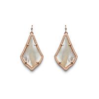 Kendra Scott Alex Earrings in Rose Gold Ivory Pearl