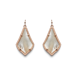 Kendra Scott Alex Earrings in Rose Gold Ivory Pearl