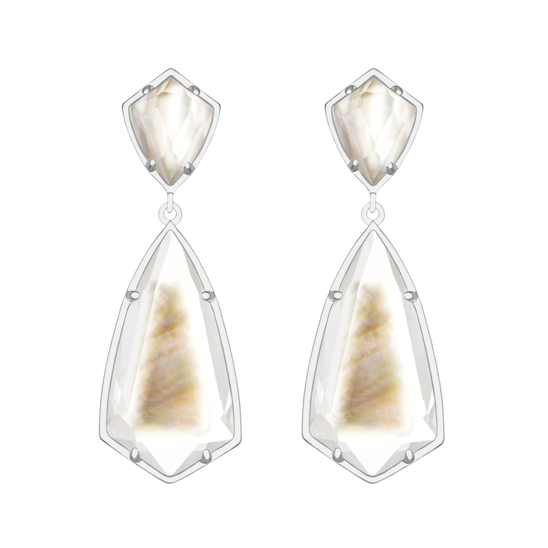 Kendra Scott Carey Earrings in Black Mother of Pearl