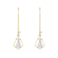 Kendra Scott Carinne Earrings in Ivory Mother of Pearl