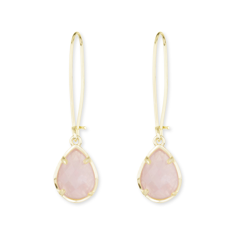 Kendra Scott Dee Earrings in Rose Quartz