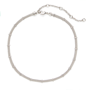 SLATE Delicate Bars and Chains Choker in Silver
