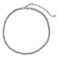 SLATE Delicate Bars and Chains Choker in Gunmetal
