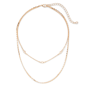 Sophie Harper Delicate Crystal Layered Choker
