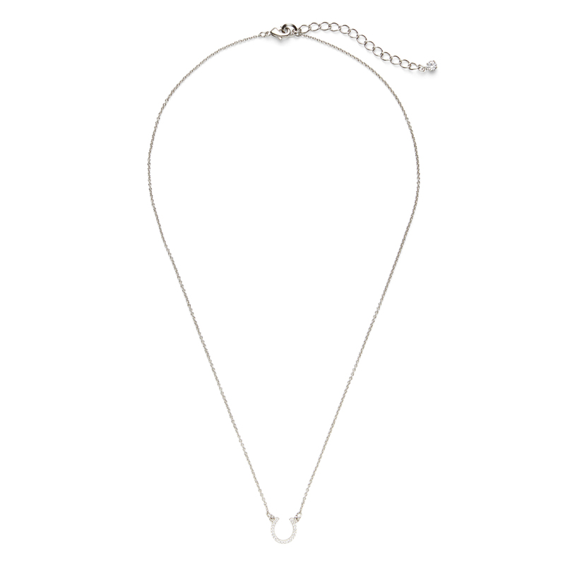 Sophie Harper Pavé Horseshoe Necklace in Silver