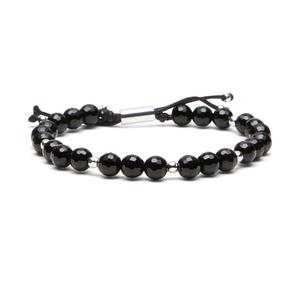 Gorjana Power Gemstone Beaded Bracelet in Black Onyx and Silver
