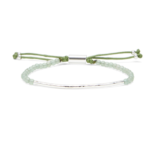 Gorjana Power Gemstone Bracelet in Aventurine and Silver