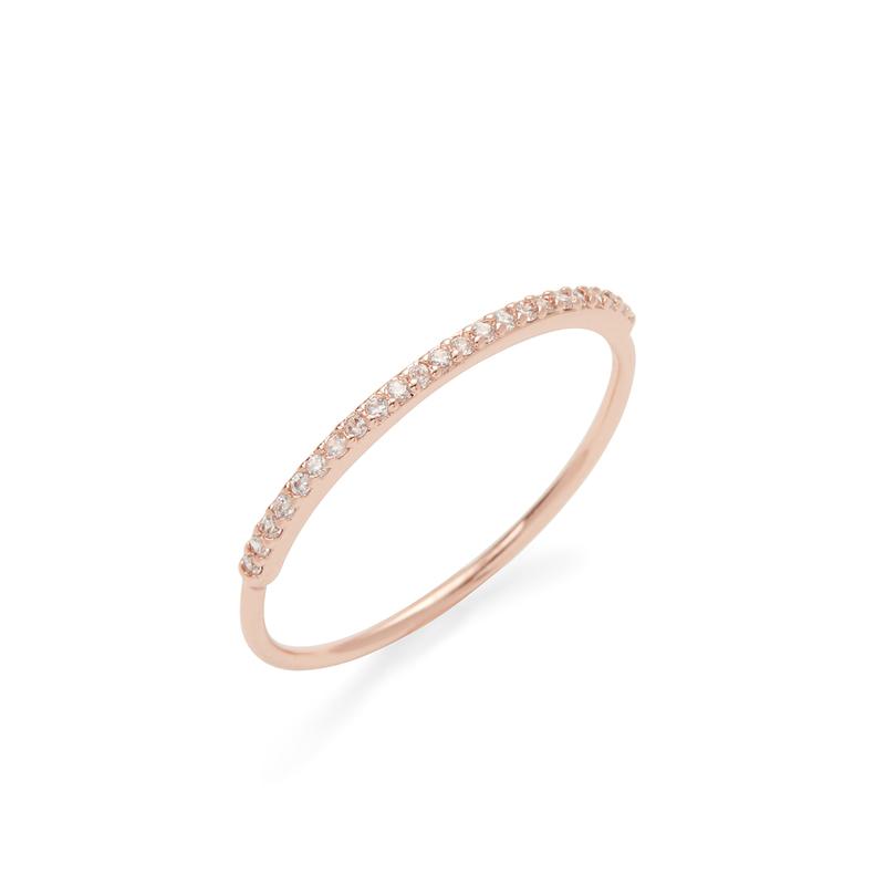 Gorjana Shimmer Bar Ring in Rose Gold