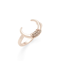 SLATE Nailah Horn Ring in Rose Gold