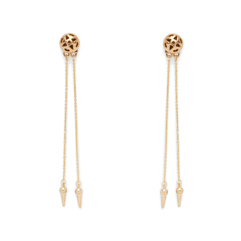House of Harlow 1960 Ayita Drop Ear Jacket in Gold