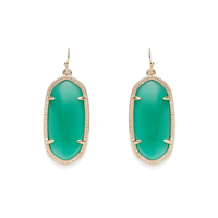 Kendra Scott Elle Earrings in Green