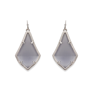 Kendra Scott Alex Silver Earring in Slate