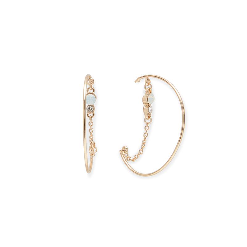 SLATE Janna Opal  Drop Hoops