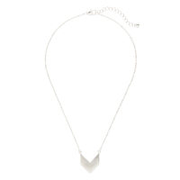 SLATE Chevron Pendant Necklace in Silver