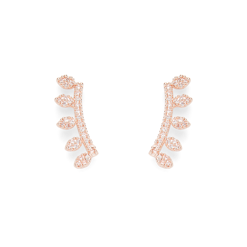 Sophie Harper Marquise Ear Climbers in Rose Gold