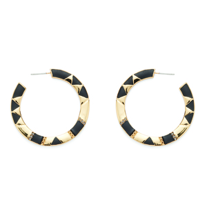 House of Harlow 1960 Nellie Hoops in Black