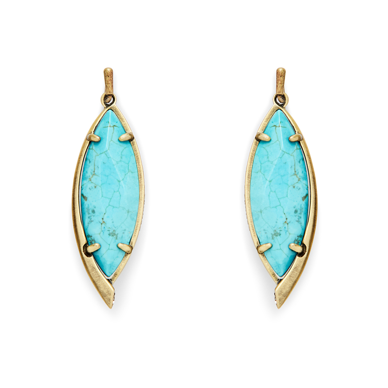 Kendra Scott Maxwell Earrings in Turquoise Magnesite