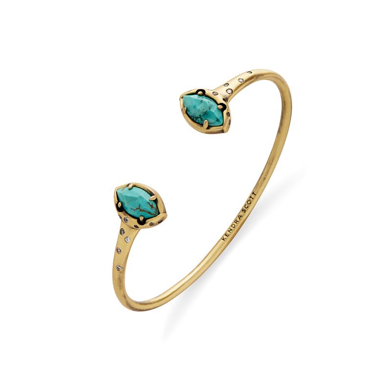 Kendra Scott Laura Pinch Bracelet in Turquoise Magnesite