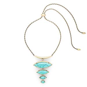 Kendra Scott Morris Adjustable Torque Necklace in Turquoise Magnesite