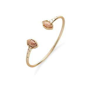 Kendra Scott Laura Pinch Bracelet in Crackle Brown Mother of Pearl