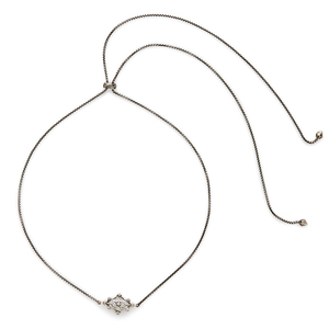 Kendra Scott Riley Adjustable Necklace in Antique Silver with Pavé