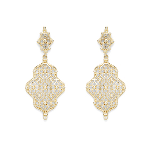 Kendra Scott Renee Earrings in Gold with Pavé