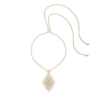 Kendra Scott Kathy Adjustable Necklace in Gold with Pavé
