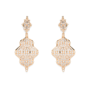 Kendra Scott Renee Earrings in Rose Gold with Pavé