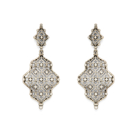 Kendra Scott Renee Earrings in Antique Silver with Pavé