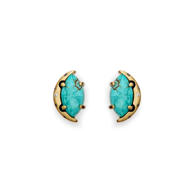 Kendra Scott Marie Earrings in Turquoise Magnesite