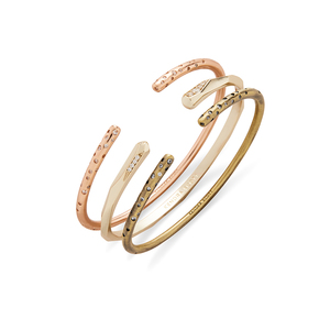 Kendra Scott Zorte Bangles in Mixed Metals with Pavé