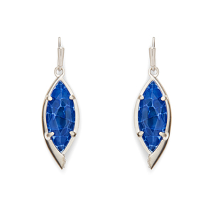 Kendra Scott Max Earrings in Crackle Blue Agate
