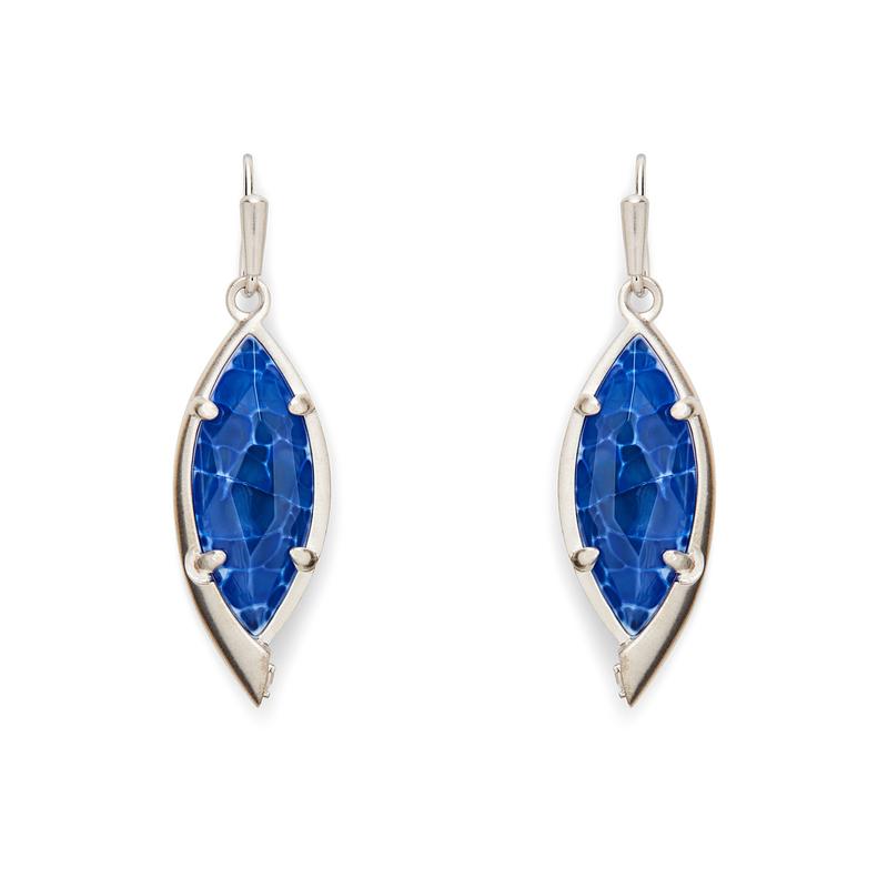 Kendra Scott Max Earrings in Crackle Blue Agate