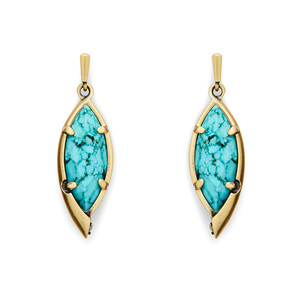 Kendra Scott Max Earrings in Turquoise Magnesite