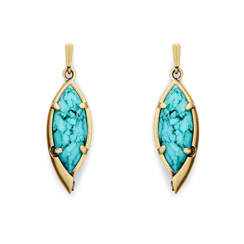 Kendra Scott Max Earrings in Turquoise Magnesite