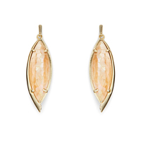 Kendra Scott Maxwell Earrings in Crackle Brown Mother of Pearl