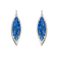 Kendra Scott Maxwell Earrings in Crackle Blue Agate