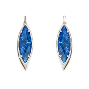 Kendra Scott Maxwell Earrings in Crackle Blue Agate