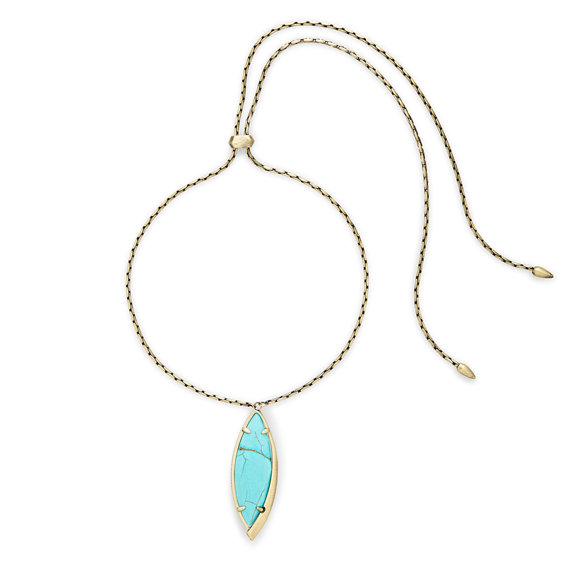Kendra Scott Milla Adjustable Necklace in Turquoise Magnesite