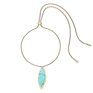 Kendra Scott Milla Adjustable Necklace in Turquoise Magnesite