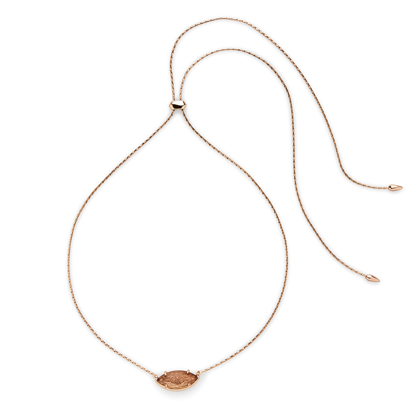 Kendra Scott Meghan Adjustable Necklace in Gold Dusted Glass