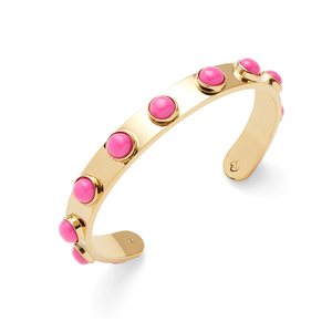 Kate Spade Pink Stone Tag Along Cuff