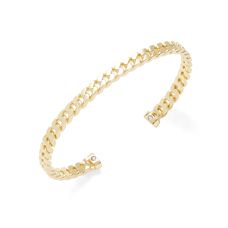 Shashi Lauren Cuff in Gold
