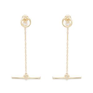 Shashi Nicole Drop Earrings in Gold