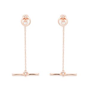 Shashi Nicole Drop Earrings in Rose Gold